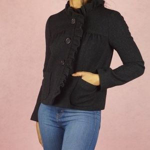 J. CREW Luxe Donegal Fiona Wool Ruffle Jacket 6